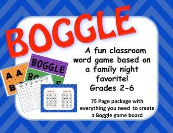 Chevron Boggle Board, Grades 2-6, 35 Different Puzzles, Ev