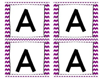 Chevron Boggle - Game and Worksheet