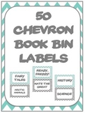 Chevron Large Book Bin Labels