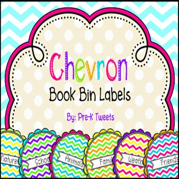 Chevron Book Bin Labels