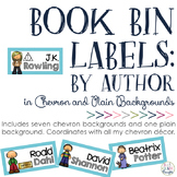 Book Bin Labels: Chevron {By Author}