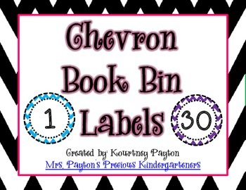 Chevron Book Bin Labels