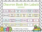 Chevron Book Bin Labels {editable}
