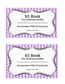 Chevron Book Coupon