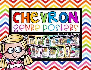 Chevron Book Genre Posters