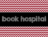 Chevron Book Hospital sign