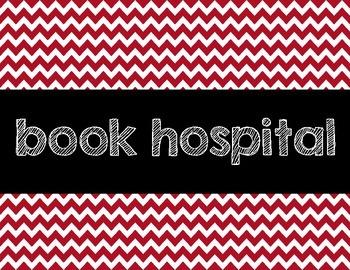 Chevron Book Hospital sign