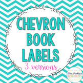 Chevron Book Labels {Bright Colors}