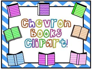 Chevron Books Clipart!