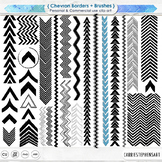 Chevron Border Clip Art,  Directional Arrow Borders, Page