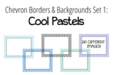 Chevron Borders & Backgrounds Set 1 - Cool Pastels