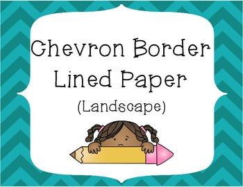 Chevron Border Writing Paper Pack - Landscape Layout