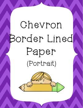 Chevron Border Writing Paper Pack - Portrait Layout