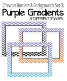 Chevron Borders & Backgrounds Set 3 - Purple Gradients