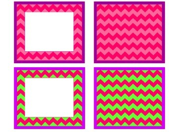 Chevron Borders and Backgrounds