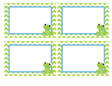 Chevron Boy Frog Labels