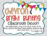 Chevron & Bright Bunting Classroom Decor