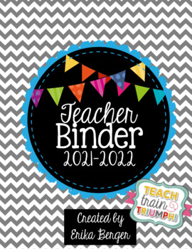 Chevron & Bright Bunting Teacher Binder {2016-2017}
