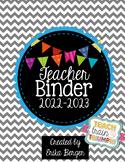 Chevron & Bright Bunting Teacher Binder {2021-2022}