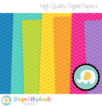 Chevron Bright Digital Papers