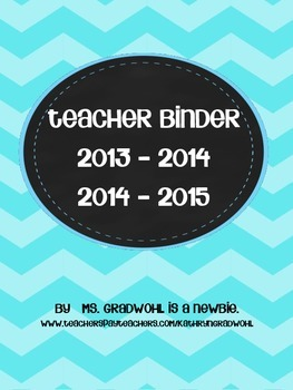 Chevron Bright Teacher Binder