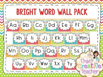Chevron Bright Word Wall Pack