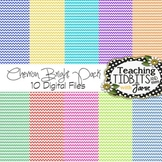 Digital Papers - Chevron Brights {12X12 for Personal or Co