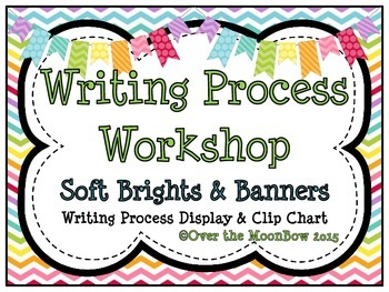 Chevron Brights & Banners Writing Process Workshop Displays & Clip Chart