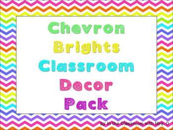 Chevron Brights Classroom Decor Pack