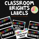 Chevron Brights Classroom Labels (EDITABLE)