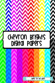Chevron Brights Digital Papers - 20 pages