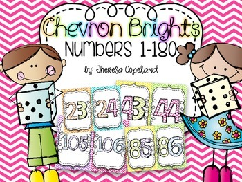 Chevron Brights Number Cards 1-180