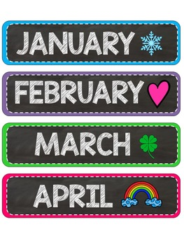 Chevron Brights - Objectives, Days of the Week, Months of the Year