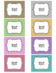 Chevron Brights Tags for Cubbies, Name Tags and Coat Hooks