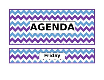 Chevron Bulletin Board- Agenda Days of the Week