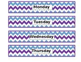 Chevron Bulletin Board- Agenda Days of the Week