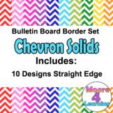 Chevron Bulletin Board Border Colorful Trim