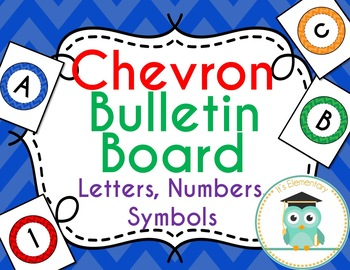 Chevron Bulletin Board Letters (Circles)