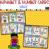 Alphabet(Primary Print) and Number Cards (0-20)-Chevron Theme