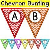 Chevron Bunting - Bulletin Board Letters Editable Banner