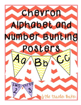 {Chevron} Bunting Alphabet & Number Banners