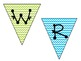 Chevron Bunting Banner for Center Signs {Editable}