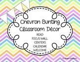 Chevron Bunting Classroom Decor