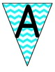 {Chevron} Bunting Classroom Management Banners {Teal & Yel