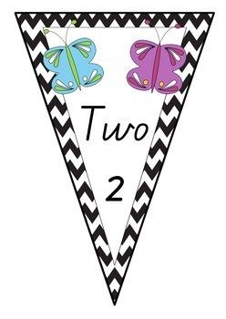 Chevron Bunting - Insect Number Posters - 0 to 20