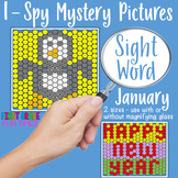 Winter Activities I Spy Sight Word Mystery Pictures January decadedollardeals