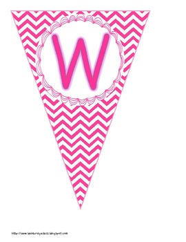 "Chevron Buntings ""Welcome"" Banner with Editable Student Name Mini-Buntings!"