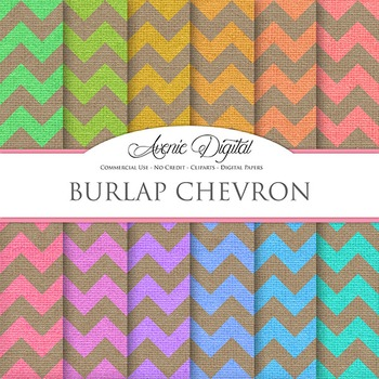Chevron Burlap Digital Paper linen fabric textures scrapbook background