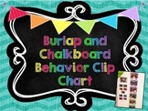 Chevron Burlap and Chalkboard Behavior Clip Chart-Editable