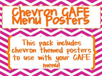 Chevron CAFE Menu Posters